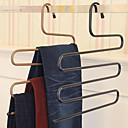 hesapli Depolama ve Düzenleme-Sihirli pantolon raf demir s-tipi çok katmanlı pantolon askısı gardırop depolama