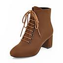 halpa Naisten tasapohjakengät-Naisten Bootsit Sexy Bootsit Paksu korko Tylpät kärjet PU Säärisaappaat Vintage / Englantilainen Syystalvi Ruskea / Musta ja kulta / Vihreä / Juhlat