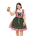 hesapli Oktoberfest-Kasım Festivali üstü dar altı geniş elbise Trachtenkleider Kadın's Bavyera Ordu Yeşili Elbise