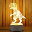 hesapli 3D Gece Işıkları-1pc 3D Gece Görüşü Sıcak Beyaz USB Yaratıcı <=36 V