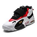 זול נעלי ספורט לגברים-בגדי ריקוד גברים נעלי נוחות דמוי עור קיץ ספורטיבי / יום יומי ריצה / הליכה נושם שחור / לבן / אדום