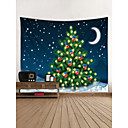 cheap Wall Tapestries-Christmas / Holiday Wall Decor Polyester Contemporary / New Year's Wall Art, Wall Tapestries Decoration