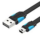Недорогие USB кабели-VENTION VAS-A14-B050 USB 2.0 к Mini USB Male - Male 0,5М (1.5ft) PVC