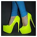 hesapli Kadın Topukluları-Kadın's Topuklular Stiletto Topuk Yuvarlak Uçlu Patentli Deri İlkbahar & Kış Yeşil / Fuşya / Sarı