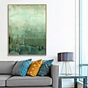 זול ציורים מופשטים-דפוס אומנות ממוסגרת קאנבס ממוסגר הדפסים - מופשט פוליסטירן ציור שמן וול ארט