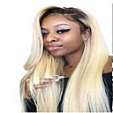 billige Blondeparykker med menneskehår-Remy Menneskehår Blonde Forside Parykk stil Brasiliansk hår Rett Blond Parykk 130% Hair Tetthet Blond Dame Medium Lengde Blondeparykker med menneskehår beikashang