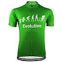 זול חולצות רכיבת אופניים-21Grams בגדי ריקוד גברים שרוולים קצרים חולצת ג'רסי לרכיבה שחור אפור צהוב אבולוציה אופנייים ג'רזי צמרות עמידות UV נושם פתילת לחות ספורט טרילן רכיבת הרים רכיבת כביש ביגוד / מיקרו-אלסטי / ייבוש מהיר