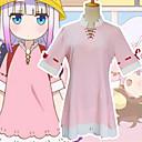 رخيصةأون أزياء تنكرية أنيمي-مستوحاة من Miss Kobayashi's Dragon Maid ازياء خادمة أنيمي أزياء Cosplay ياباني الدعاوى تأثيري فستان / Sokker من أجل نسائي