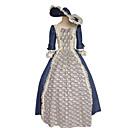 זול תחפושות מהעולם הישן-מבוגרים בגדי ריקוד נשים קוספליי ימי הביניים שמלות תחפושות קוספליי תלבושות עבור Party Halloween פֶסטִיבָל משי האלווין (ליל כל הקדושים) קרנבל נשף מסכות שמלה כובע
