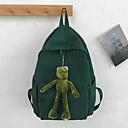 זול תיקי בית ספר-עמיד למים ניילון רוכסן תרמיל צבע אחיד בית הספר שחור / כתום / אודם / סתיו חורף