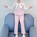 povoljno Stole za vjenčanje-Djeca Dijete koje je tek prohodalo Djevojčice Osnovni Ulični šik Izlasci Ležerno / za svaki dan Color block Perlice Mašna Vezanje straga Dugih rukava Kratka Kratak Komplet odjeće Blushing Pink