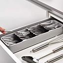 tanie Przybory kuchenne i gadżety-szuflada kuchenna organizer taca łyżka separacja sztućców wykończenie schowek sztućce organizacja przechowywania w kuchni