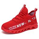 זול נעלי ילדים אתלטי-בנים רשת / Flyknit נעלי אתלטיקה ילדים גדולים (7 שנים +) נוחות ריצה שחור / לבן / אדום סתיו / סִיסמָה