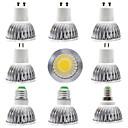 hesapli LED Spot Işıkları-9pcs 15 W LED Spot Işıkları 300 lm E14 GU10 GU5.3 1 LED Boncuklar COB Kısılabilir Yeni Dizayn Sıcak Beyaz Beyaz 220-240 V 110-120 V