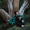 povoljno Anime kostimi-Inspirirana Cosplay / Ubojica demona: Kimetsu no Yaiba Cosplay Anime Cosplay nošnje Japanski Kaput / Top / Hlače Za Muškarci / Pojas / Pojas