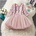 povoljno Haljine za djevojčice-Djeca Djevojčice Jednobojni Do koljena Haljina Blushing Pink