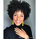 povoljno Perike s ljudskom kosom-Sintetičke perike Afro Kinky Stil Bob frizura Capless Perika Crna Sintentička kosa 6 inch Žene Klasični Žene sintetički Crna Perika Kratko / Afro-američka perika / Da