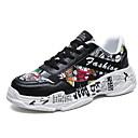 hesapli Erkek Sneakerları-Erkek Ayakkabı Kanvas Yaz Sportif Spor Ayakkabısı Günlük için Siyah / Beyaz / Kırmzı