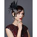 hesapli Eski Dünya Kostümleri-The Great Gatsby Charleston Vintage 1920s Frapan Kafa Bandı Kadın's Kostüm Başlık Siyah / Altın / Altın+Siyah Eski Tip Cosplay Parti Balo Kolsuz
