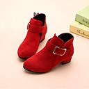 halpa Lasten saappaat-Tyttöjen Tekoturkis Bootsit Pikkulapset (4-7 vuotta) Comfort Musta / Punainen / Pinkki Talvi / Nilkkurit