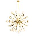 povoljno Lusteri-moderno privjesak od staklenog privjeska dnevna soba luster za globus s 18 svjetiljki galvanizirano zlatno svjetlo g4 baza žarulje