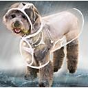 povoljno Ribolovne mreže-Mačka Pas Zakó Raincoat Odjeća za psa Jednobojni Crn Obala purpurna boja plastika Kostim Za Haski Labrador aljaški malamut Proljeće Ljeto Jesen transparentan Vodootporno Cool