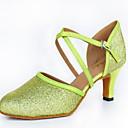 povoljno Lolita haljine-Žene Plesne cipele Koža Moderna obuća Štikle Kubanska potpetica Zelen