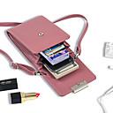 povoljno Torbice za mobitel-Žene Patent-zatvarač PU Mobitel Bag Jedna barva Crn / Lila-roza / Sky blue