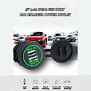 Недорогие Автомобильные зарядные устройства-5v 4.2a Dual USB порт автомобильное зарядное устройство розетка автомобильный адаптер разъем со светодиодным быстрым зарядным устройством водонепроницаемый / 7