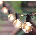 Недорогие IP-камеры для помещений-8 м 26 футов g40 глобус гирлянды с 25 прозрачными лампами для внутреннего наружного коммерческого декора внутренний дворик задний двор крыльцо сад пергола рынок кафе барбекю