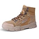 זול מגפיים לגברים-בגדי ריקוד גברים Fashion Boots קנבס / מיקרופייבר סתיו חורף קלסי מגפיים ללא החלקה מגפונים\מגף קרסול שחור / חום בהיר / אפור