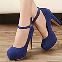 זול נעלי עקב לנשים-בגדי ריקוד נשים עקבים עקב סטילטו בוהן עגולה סינטטיים קיץ שחור / Wine / כחול
