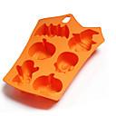 זול עוגיות כלי-ליל כל הקדושים עובש עוגת סיליקון בסגנון חג ליל כל הקדושים 6 חללים דלעת רפאים בצורת עטלף עוגיות תבניות שוקולד כלי אפייה לעוגה