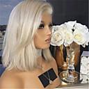 זול פיאות תחרה סינטטיות-פאות סינתטיות Kinky Straight סגנון חלק אמצעי הוכן באמצעות מכונה פאה בלונד זהב בהיר שיער סינטטי 12 אִינְטשׁ בגדי ריקוד נשים נשים בלונד פאה ארוך