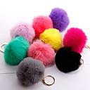 זול שרשראות מפתח-שרשרת מפתחות כדור קוראני מתוק אופנתי Fashion Ring תכשיטים שחור / כחול בהיר / ורוד בהיר עבור מתנה יומי