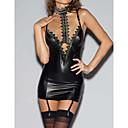 povoljno Seksi kostimi-Žene Sexy Donje rublje s podvezicom Noćno rublje Jednobojni Crn S M L