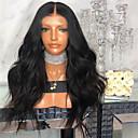 Недорогие Парик из искусственных волос на кружевной основе-Парики из искусственных волос Естественные прямые Стиль Средняя часть Машинное плетение Парик Черный Искусственные волосы 26 дюймовый Жен. Женский Темно-коричневый Парик Длинные