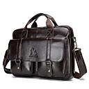 povoljno Tote torbe-Muškarci Patent-zatvarač Kravlja koža Torba s ručkom Jedna barva Crn / Kava