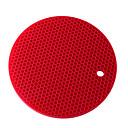 abordables Vaisselle-17,5 cm * 17,5 cm d'épaisseur napperon en silicone table imperméable à l'eau isolation tapis de cuisson tapis couleur unie étudiant nappemat des enfants 1pc