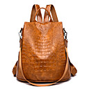 povoljno Perike s ljudskom kosom-Velika zapremnina Poliester PU Patent-zatvarač ruksak Jedna barva Dnevno Crn / Bijela / Zmijska koža