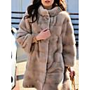 povoljno Stole za vjenčanje-Dugih rukava Fox krzna Vjenčanje Ženski ogrtač S Fur Sakoi / jakne