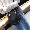 זול תיקי אלכסון-בגדי ריקוד נשים PU תיק עם רצועת אחיזה צבע אחיד שחור / חום / תלתן