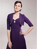 hesapli Gece Elbiseleri-Yarım Kol Polyester Parti / Gece Kadın Eşarpları İle Nakış Kabanlar / Ceketler