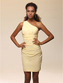 cheap Women's Skirts-Sheath / Column One Shoulder Short / Mini Stretch Satin Celebrity Style Cocktail Party Dress with Side Draping / Ruched by TS Couture®