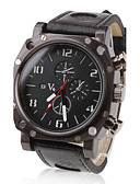 رخيصةأون ساعات جيش-V6 رجالي ساعة عسكرية ساعة المعصم كوارتز كوارتز ياباني عرض ساخن PU فرقة مماثل سحر أسود - أسود سنتان عمر البطارية / ميتسوبيشي LR626