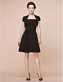 Χαμηλού Κόστους Φορέματα για παρανυφάκια-Γραμμή Α Στράπλες Μέχρι το γόνατο Σιφόν Φόρεμα Μητέρας της Νύφης με Χάντρες / Πλαϊνό ντραπέ / Χιαστί με LAN TING BRIDE®