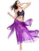 Χαμηλού Κόστους Ρούχα χορού της κοιλιάς-Χορός της κοιλιάς Σύνολα Γυναικεία Επίδοση Σιφόν Κέρματα Χαμηλή Μέση