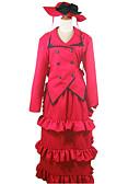 povoljno Maske za mobitele-Inspirirana Crna Butler Madam Red Anime Cosplay nošnje Japanski Cosplay Suits / Dresses Kolaž Dugih rukava Kravata / Kaput / Haljina Za Žene