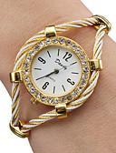 baratos Relógios da Moda-Mulheres senhoras Relógio de Moda Bracele Relógio Quartzo Dourada Analógico Brilhante Rígida - Dourado Um ano Ciclo de Vida da Bateria / SSUO 377