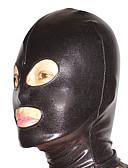 povoljno Zentai odijela-Mask Odijelo za kožu Ninja Odrasli Cosplay Nošnje Crn Jednobojni Spandex Muškarci Žene Halloween